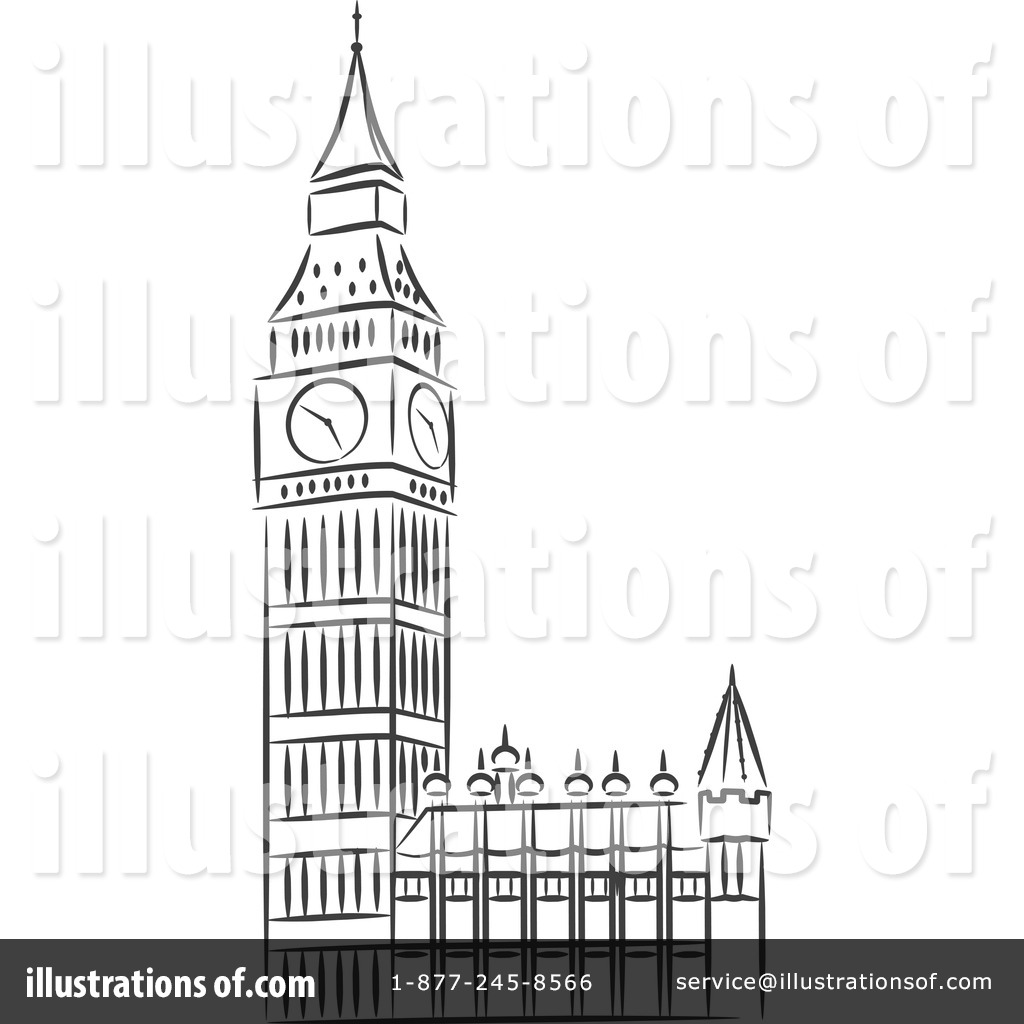 Royalty-Free (RF) Big Ben Clipart Illustration #1214815 by Vector Tradition SM