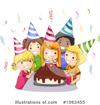 Royalty Free Rf Birthday Part - Birthday Party Clipart