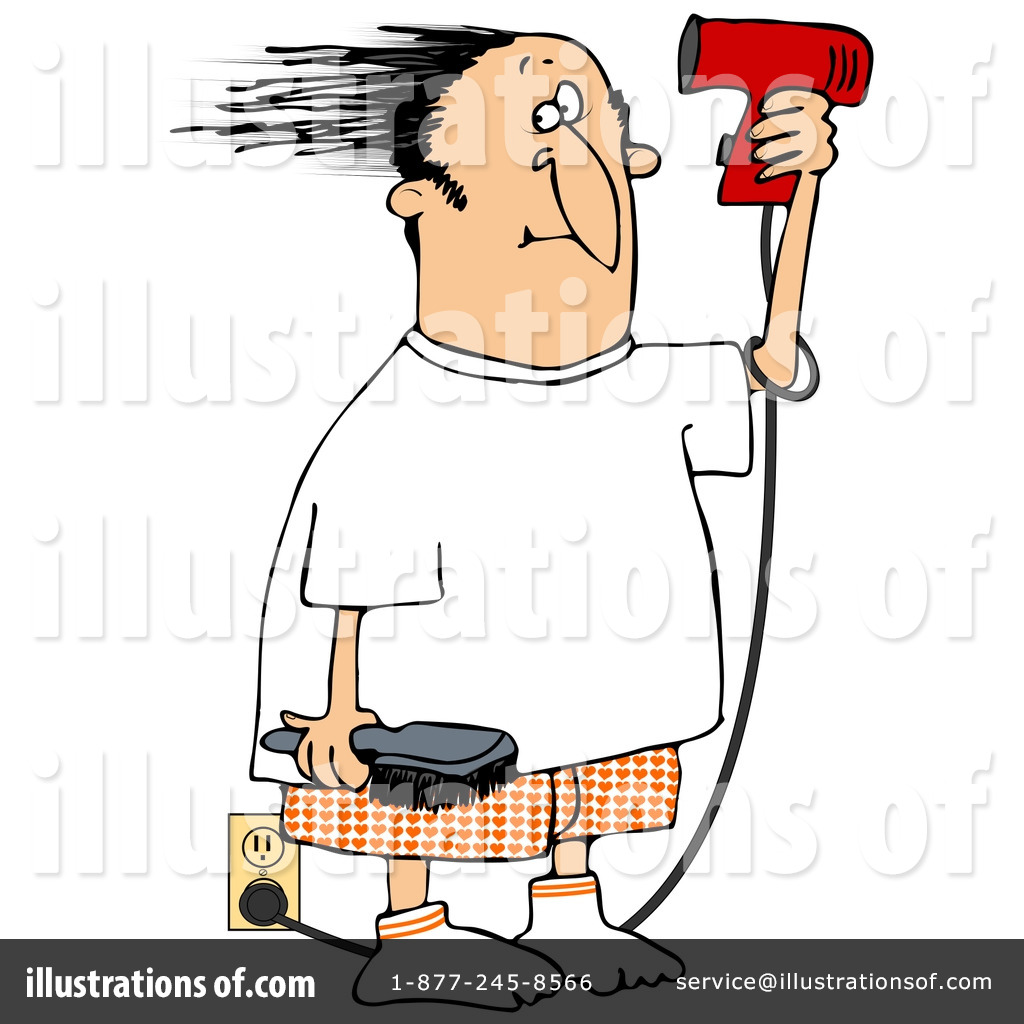 Royalty-Free (RF) Blow Dryer Clipart Illustration by Dennis Cox - Stock Sample