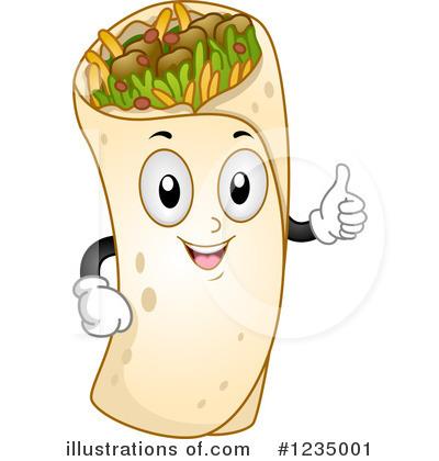 Royalty-Free (RF) Burrito Clipart Illustration by BNP Design Studio - Stock Sample