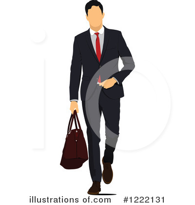 Royalty-Free (RF) Businessman Clipart Illustration #1222131 by leonid