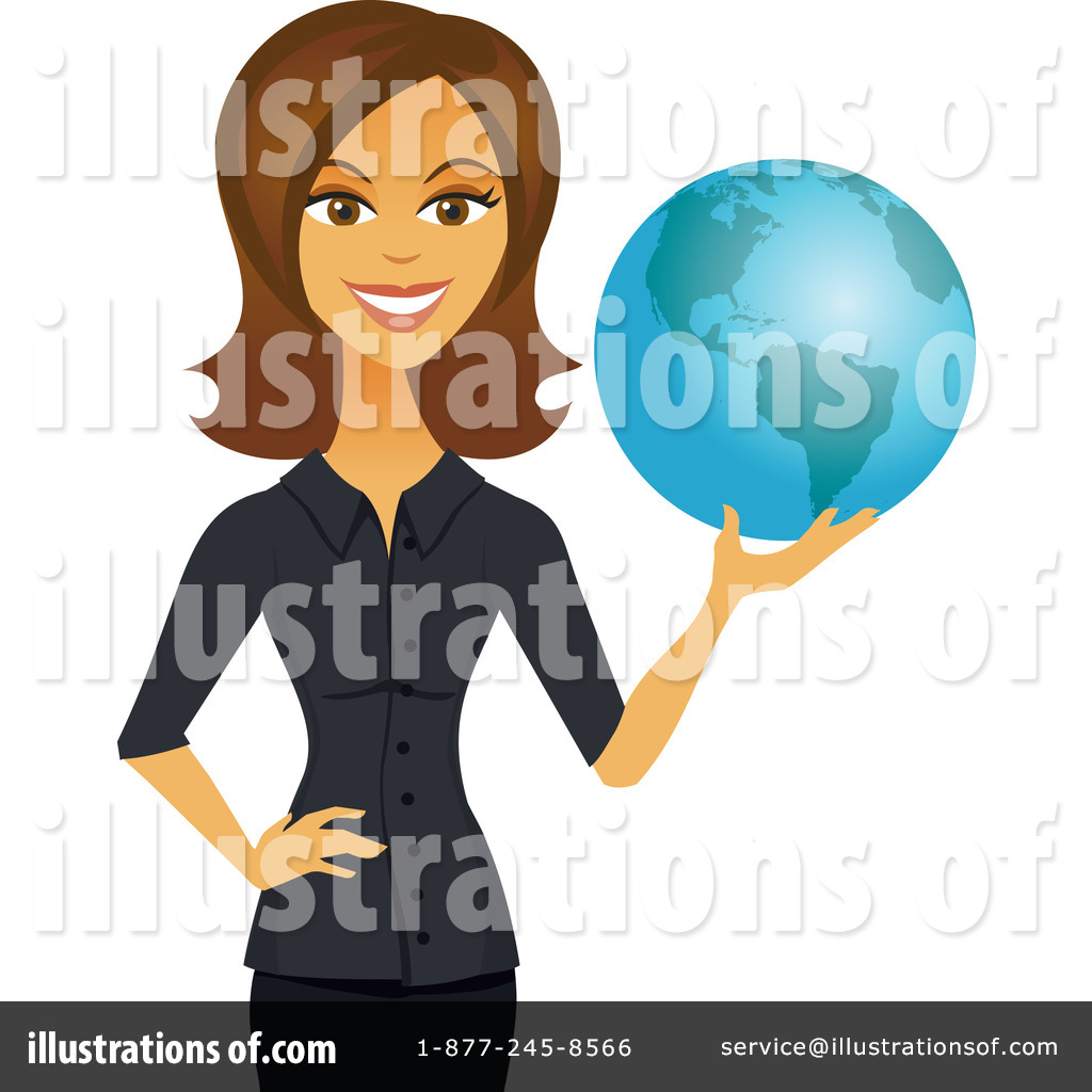 Royalty-Free (RF) Businesswoman Clipart Illustration #1107095