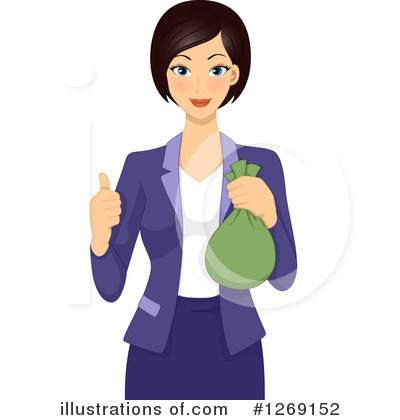 Royalty-Free (RF) Businesswoman Clipart Illustration by BNP Design Studio - Stock Sample