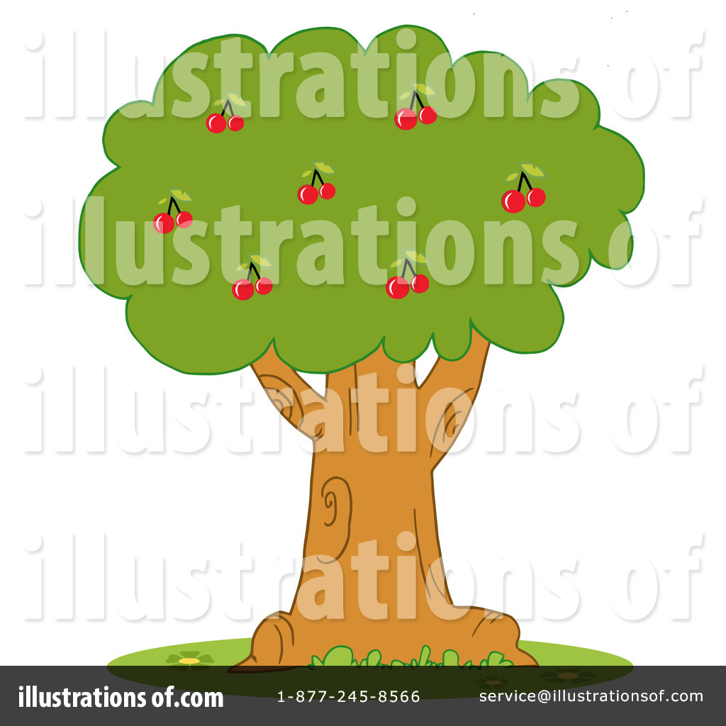 Royalty-Free (RF) Cherry Tree Clipart Il-Royalty-Free (RF) Cherry Tree Clipart Illustration by Hit Toon - Stock Sample-18