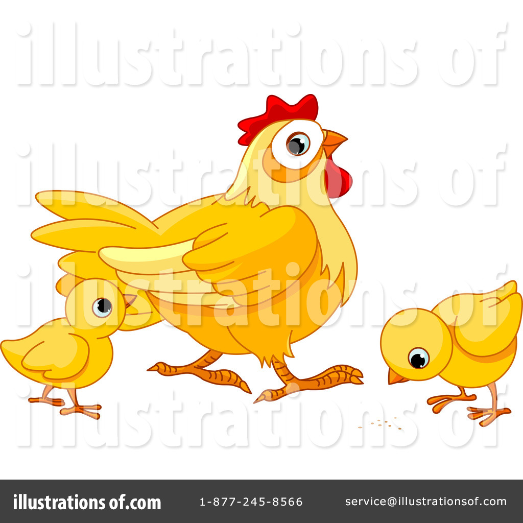 Royalty-Free (RF) Chickens Clipart Illustration #1078416 by Pushkin