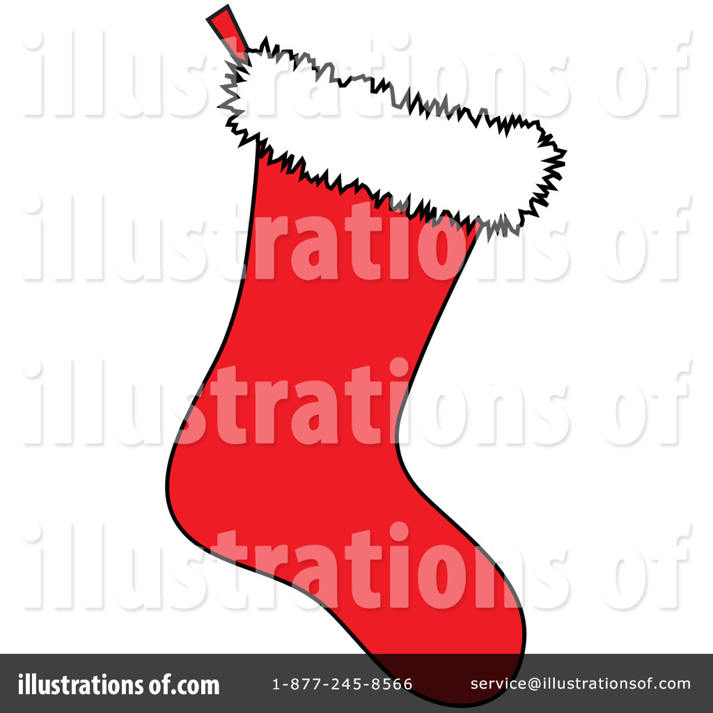 Royalty-Free (RF) Christmas Stocking Clipart Illustration by Pams Clipart - Stock Sample