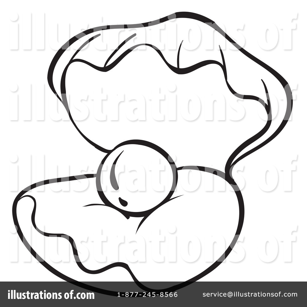 Royalty-Free (RF) Clam Clipart Illustrat-Royalty-Free (RF) Clam Clipart Illustration #1132110 by colematt-17