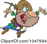 Royalty Free RF Clip Art Illustration Of A Cartoon Happy Prospector