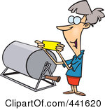 Royalty Free RF Clip Art Illustration Of-Royalty Free RF Clip Art Illustration Of A Cartoon Woman Reading A Raffle Ticket-17