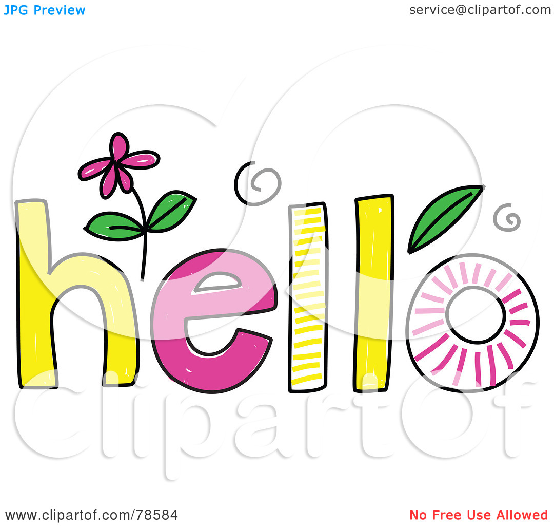 Royalty-Free (RF) Clipart Illustration of a Colorful Hello Word by Prawny