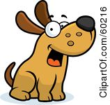 Royalty Free RF Clipart Illustration Of -Royalty Free RF Clipart Illustration Of A Friendly Max Dog Character Sitting-18