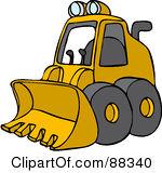 Royalty Free RF Clipart Illustration Of -Royalty Free RF Clipart Illustration Of A Parked Yellow Mini Loader-18