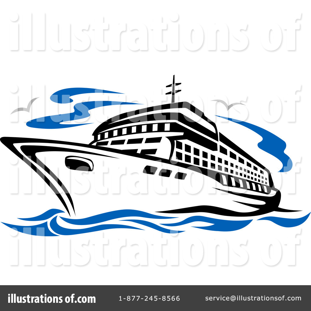 Royalty-Free (RF) Cruise Ship Clipart Illustration #1083245 by Vector Tradition SM