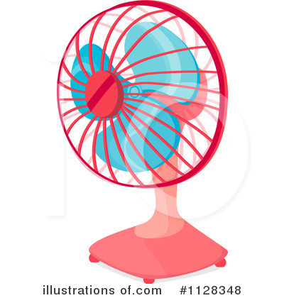 Royalty-Free (RF) Desk Fan Clipart Illustration #1128348 by colematt