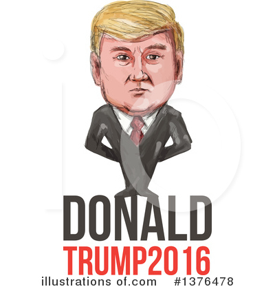 Royalty-Free (RF) Donald Trump Clipart Illustration #1376478 by patrimonio