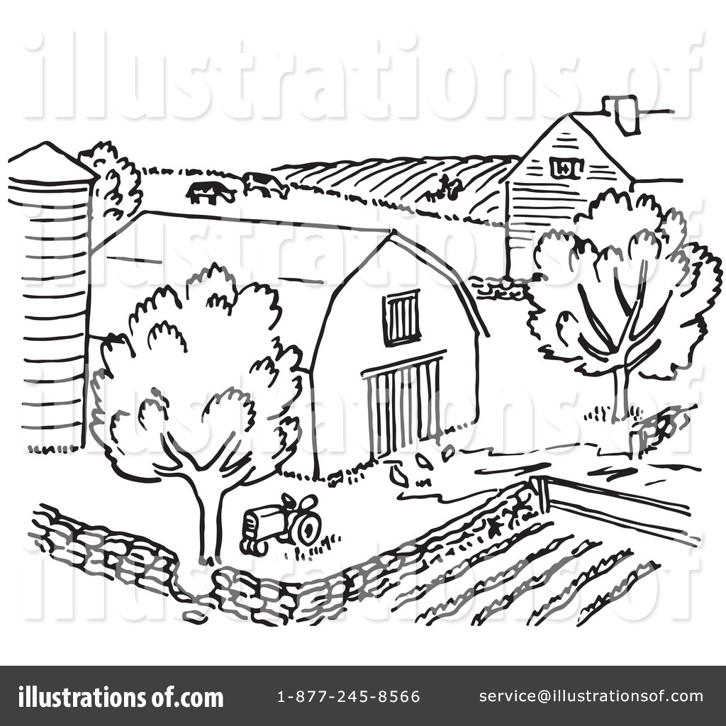 Royalty Free RF Farm Clipart