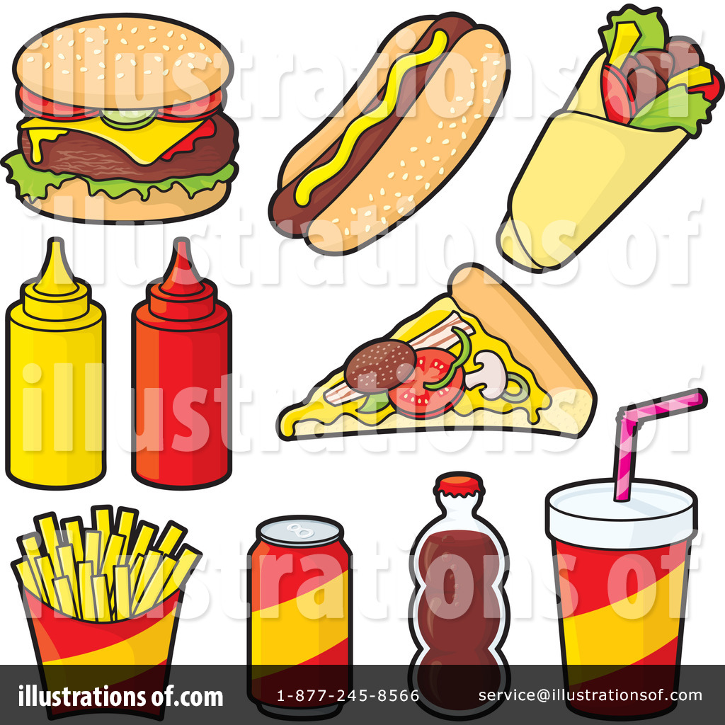 Royalty-Free (RF) Fast Food Clipart Illustration by Any Vector - Stock Sample