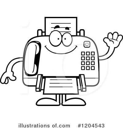 Royalty-Free (RF) Fax Machine Clipart Illustration by Cory Thoman - Stock Sample