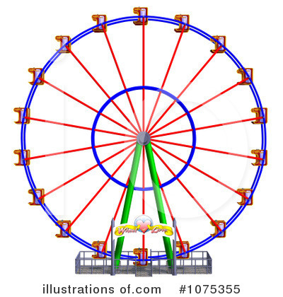 Royalty-Free (RF) Ferris Wheel Clipart Illustration #1075355 by Ralf61