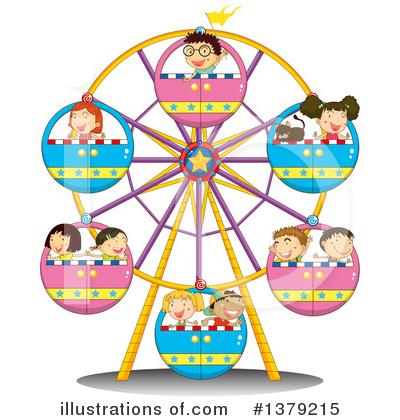 Royalty-Free (RF) Ferris Wheel Clipart Illustration #1379215 by colematt