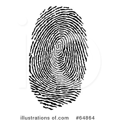 Royalty-Free (RF) Fingerprint Clipart Illustration #64864 by Frog974