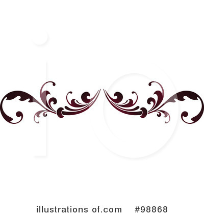 Royalty-Free (RF) Flourish Clipart Illustration #98868 by OnFocusMedia