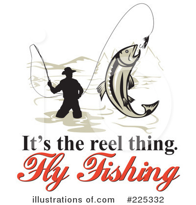 Royalty-Free (RF) Fly Fishing Clipart Illustration #225332 by patrimonio