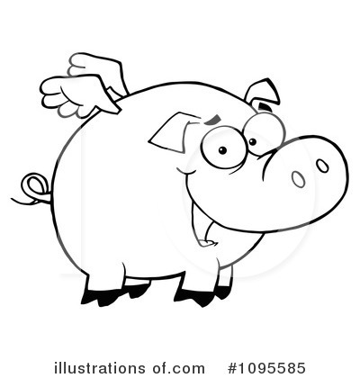 Royalty-Free (RF) Flying Pig Clipart Illustration by Hit Toon - Stock Sample