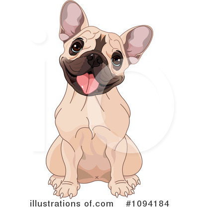 Royalty-Free (RF) French Bulldog Clipart-Royalty-Free (RF) French Bulldog Clipart Illustration #1094184 by Pushkin-19