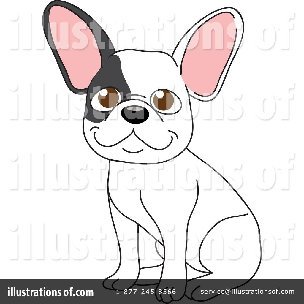 Royalty-Free (RF) French Bulldog Clipart-Royalty-Free (RF) French Bulldog Clipart Illustration by Rosie Piter - Stock Sample-15
