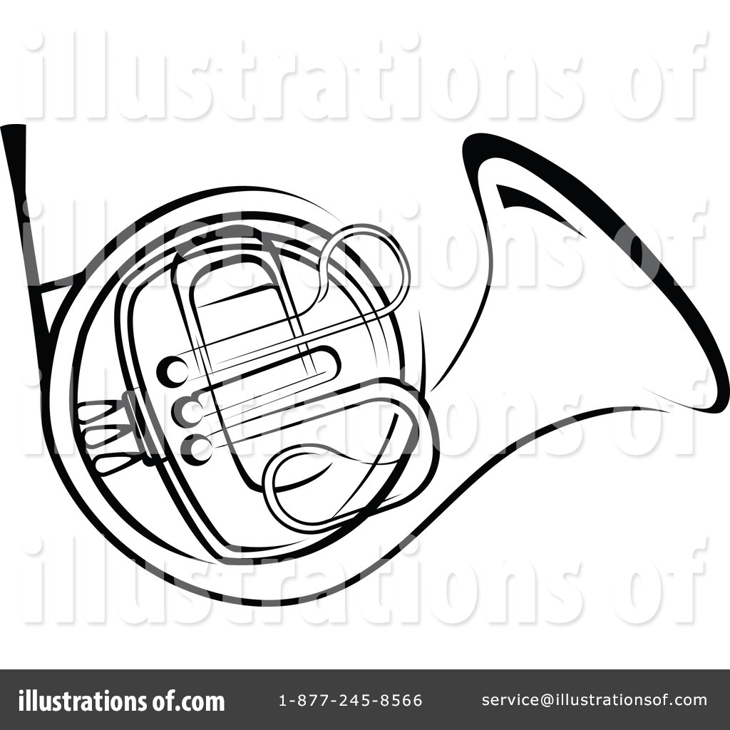Royalty-Free (RF) French Horn Clipart Il-Royalty-Free (RF) French Horn Clipart Illustration #1064429 by Vector Tradition SM-12