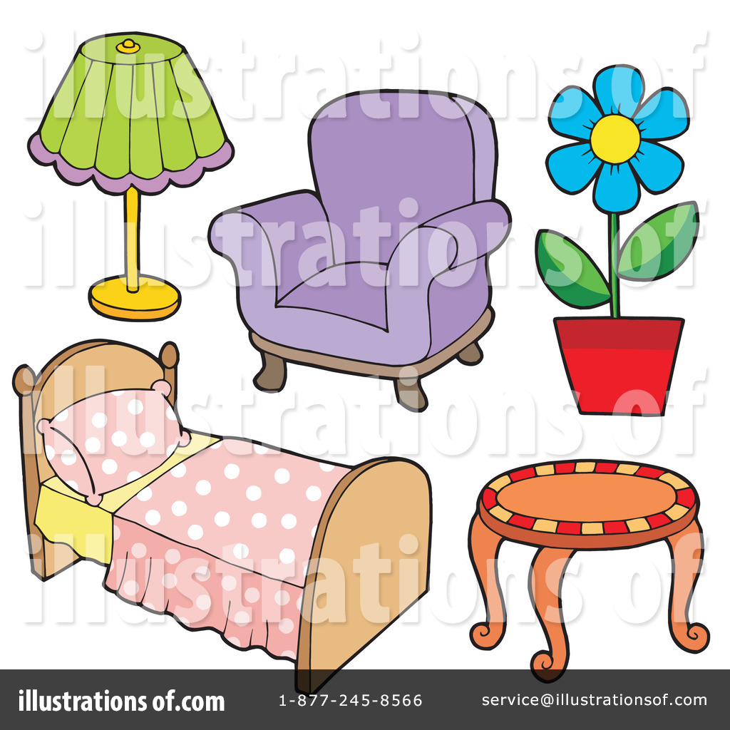 Royalty-Free (RF) Furniture Clipart Illustration #213543 by visekart