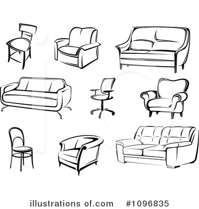 Royalty-Free (RF) Furniture Clipart Illustration by Vector Tradition SM - Stock Sample
