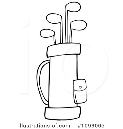Royalty-Free (RF) Golf Bag Clipart Illustration by Hit Toon - Stock Sample