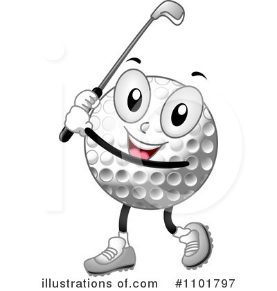 Royalty-Free (RF) Golf Clipart Illustration by BNP Design Studio - Stock Sample