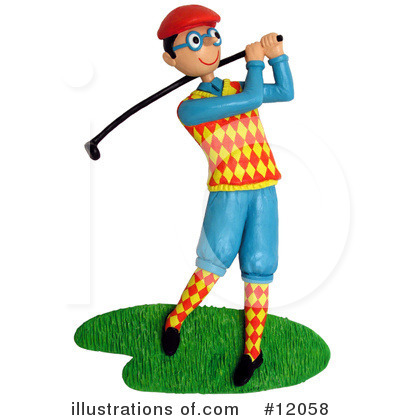 Royalty-Free (RF) Golfing Clipart Illust-Royalty-Free (RF) Golfing Clipart Illustration #12058 by Amy Vangsgard-14