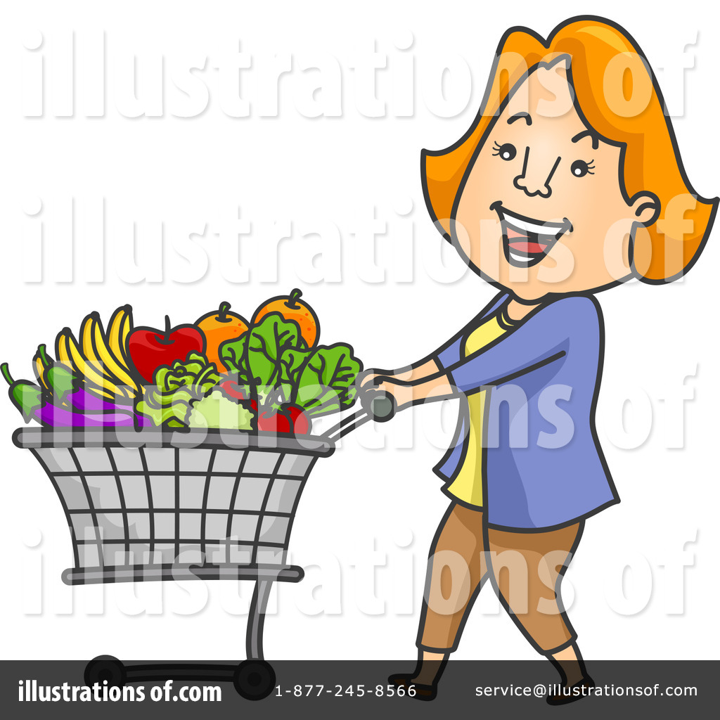 Royalty-Free (RF) Grocery Shopping Clipart Illustration #1228000 by BNP Design Studio