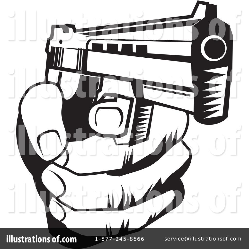Royalty-Free (RF) Gun Clipart Illustrati-Royalty-Free (RF) Gun Clipart Illustration #225847 by David Rey-7