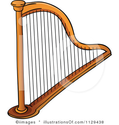 Royalty Free Rf Harp Clipart  - Harp Clipart