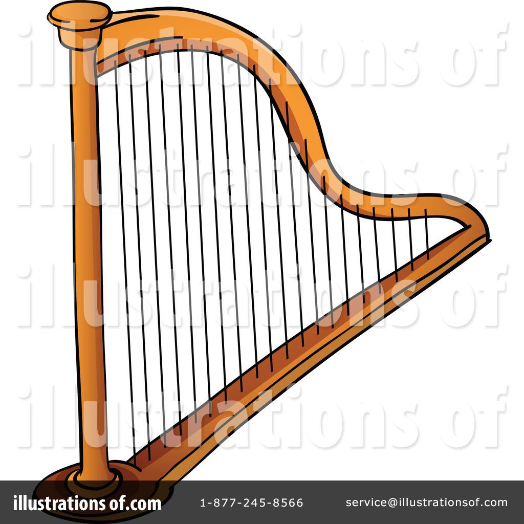 Royalty-Free (RF) Harp Clipart Illustration #1129438 by colematt