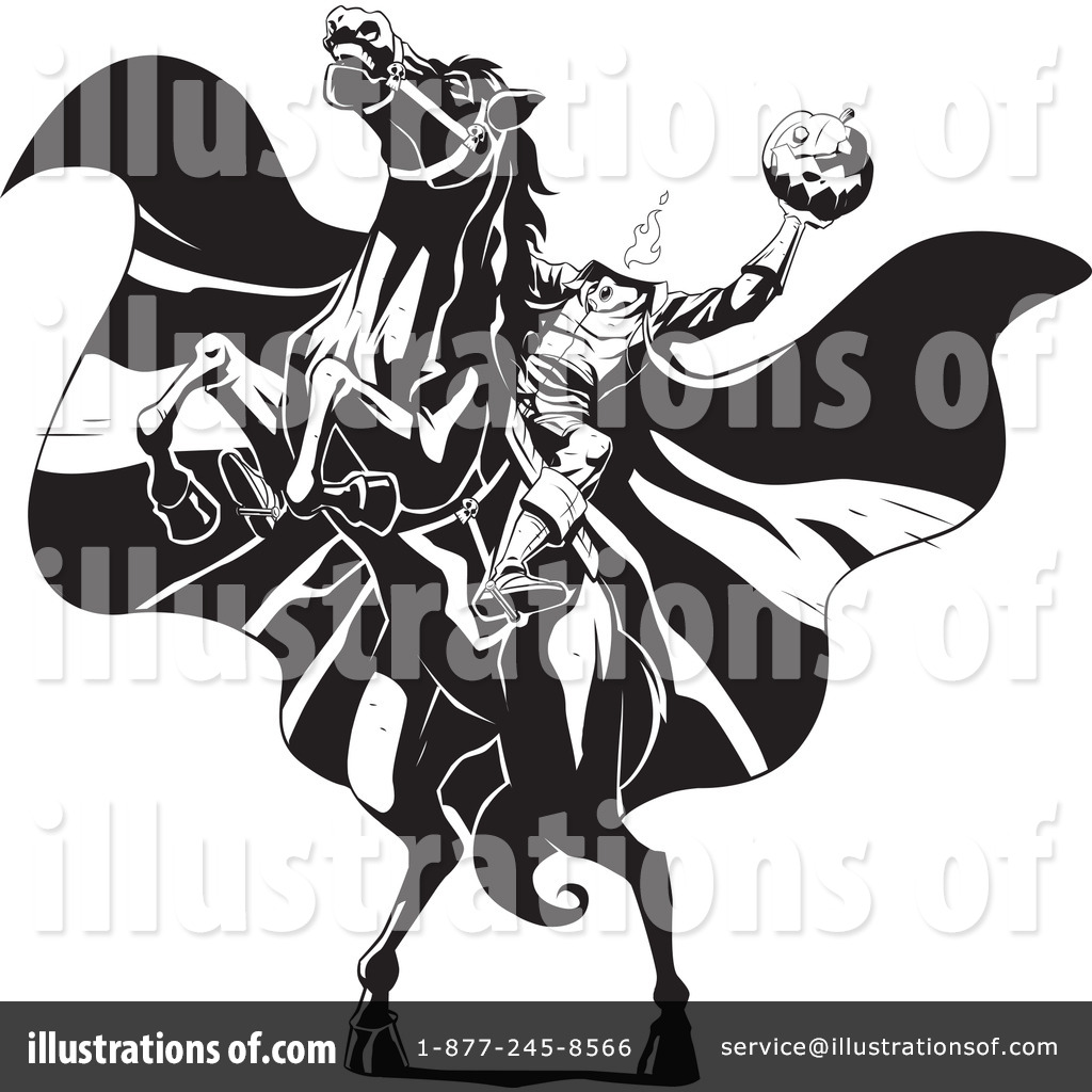 Royalty-Free (RF) Headless Horseman Clipart Illustration #34118 by Lawrence Christmas Illustration