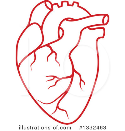 Royalty-Free (RF) Human Heart Clipart Illustration #1332463 by Vector Tradition SM
