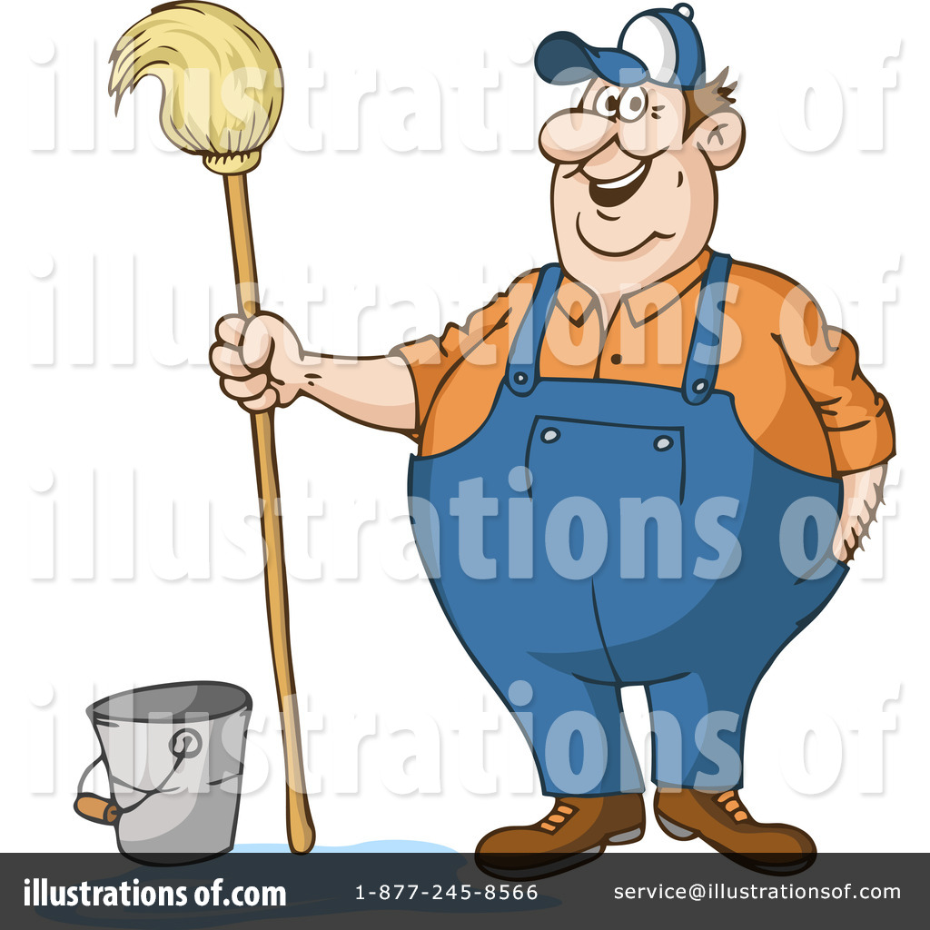 Royalty-Free (RF) Janitor Clipart Illust-Royalty-Free (RF) Janitor Clipart Illustration #43977 by Holger Bogen-15