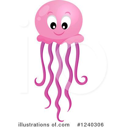 Royalty-Free (RF) Jellyfish Clipart Illu-Royalty-Free (RF) Jellyfish Clipart Illustration #1240306 by visekart-17