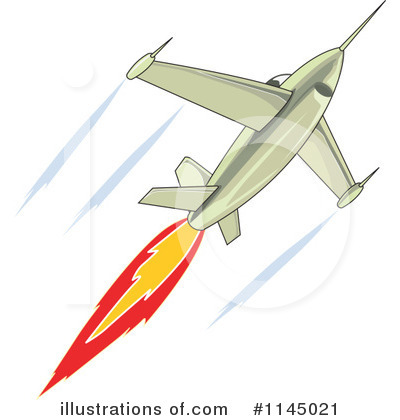 Royalty-Free (RF) Jet Clipart Illustration #1145021 by patrimonio
