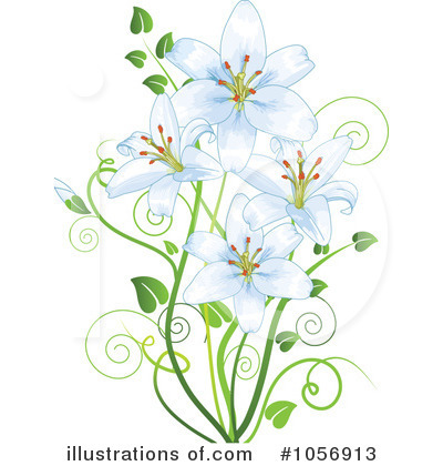 ... royalty free rf lilies clipart ilrat-... royalty free rf lilies clipart ilration 1056913 by pushkin; potted easter ...-9