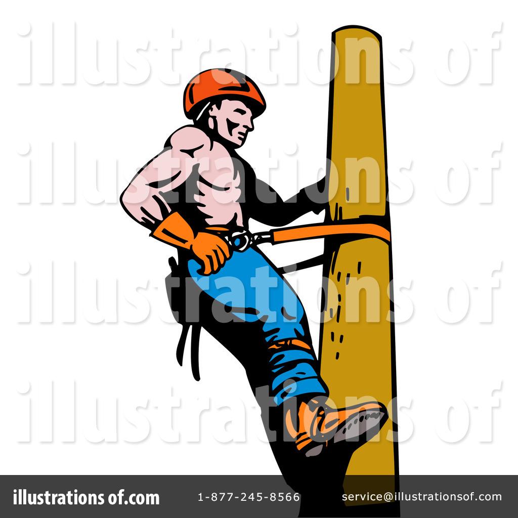 Royalty-Free (RF) Lineman Clipart Illust-Royalty-Free (RF) Lineman Clipart Illustration #216025 by patrimonio-18