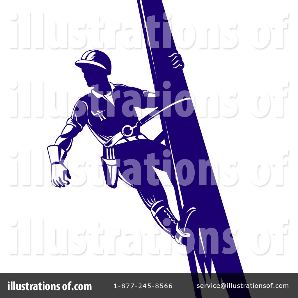 Royalty-Free (RF) Lineman Clipart Illustration #216116 by patrimonio