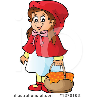 Royalty-Free (RF) Little Red Riding Hood Clipart Illustration #1270163 by visekart