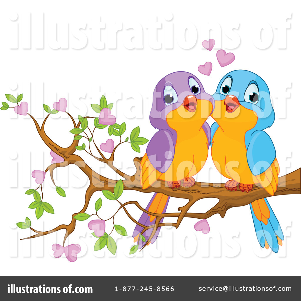 Royalty-Free (RF) Love Birds Clipart Illustration #1160948 by Pushkin